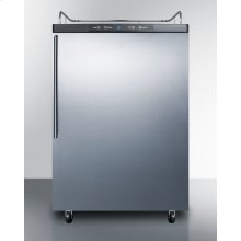 Freestanding Residential Beer Dispenser, Auto Defrost W/digital Thermostat, Ss Door, Thin Handle, and Black Cabinet; No Tapping Equipment Included