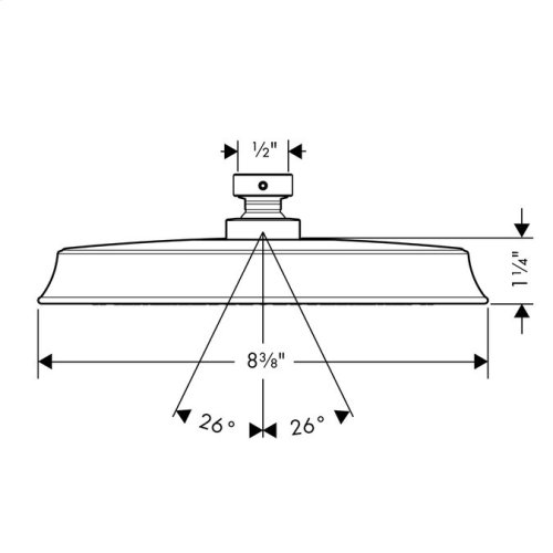 Chrome Showerhead 180 1-Jet, 2.5 GPM
