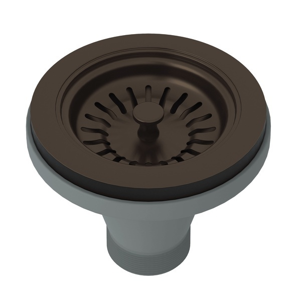 Tuscan Brass Manual Basket Strainer Without Remote Pop-Up