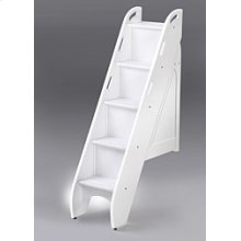 Bunk Bed Stairs in White Finish