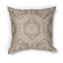 """L183 Silver Damask Pillow 18"""" X 18"""""""