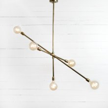 Antique Brass Finish Thalia Chandelier