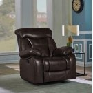 Zimmerman Casual Dark Brown Glider Recliner Product Image