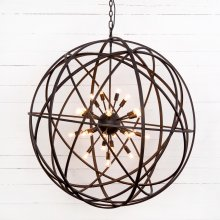 Tennyson Large Chandelier-rust