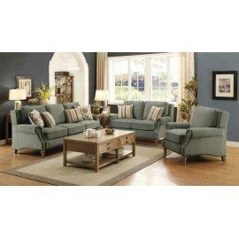Rosenberg Light Sage Three-piece Living Room Set