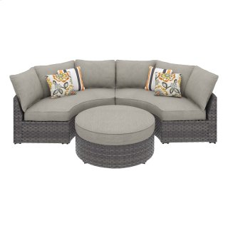 Spring Dew IV Sectional w/ Ottoman