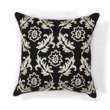 "L118 Black/white Finesse Pillow 18"" X 18"""