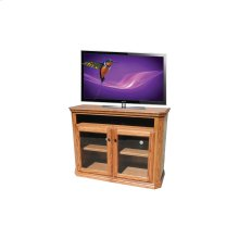 "O-TF294 Traditional Oak 48"" Clipped Corner TV Console"