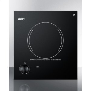 115v Single Burner Cooktop In Black Ceramic Glass, Made In Europe Product Image