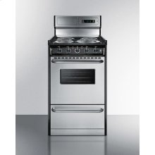 "Deluxe 220v Electric Range In Slim 20"" Width With Stainless Steel Doors"