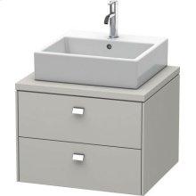 Brioso Vanity Unit For Console, Concrete Gray Matte (decor)