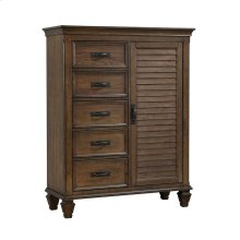 Franco Five-drawer Chest With Louvered Panel Door