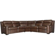 Germain Power Motion Sectional in Mocha (751)