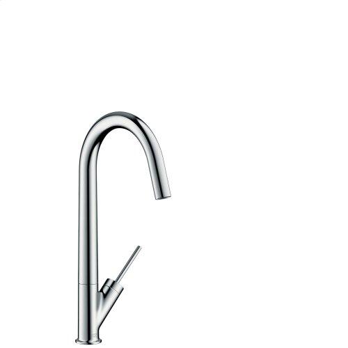 Chrome Single lever kitchen mixer 300 with swivel spout