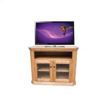 "O-TF296 Traditional Oak 38"" Clipped Corner TV Console"