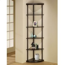 Casual Cappuccino Corner Bookcase