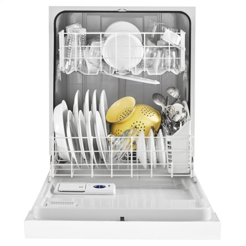 Heavy-Duty Dishwasher with 1-Hour Wash Cycle White