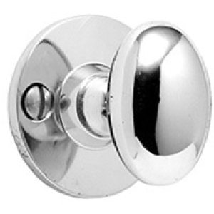 Satin Nickel Bathroom thumb turn, visible fix