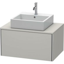 Vanity Unit For Console Wall-mounted, Concrete Gray Matte (decor)