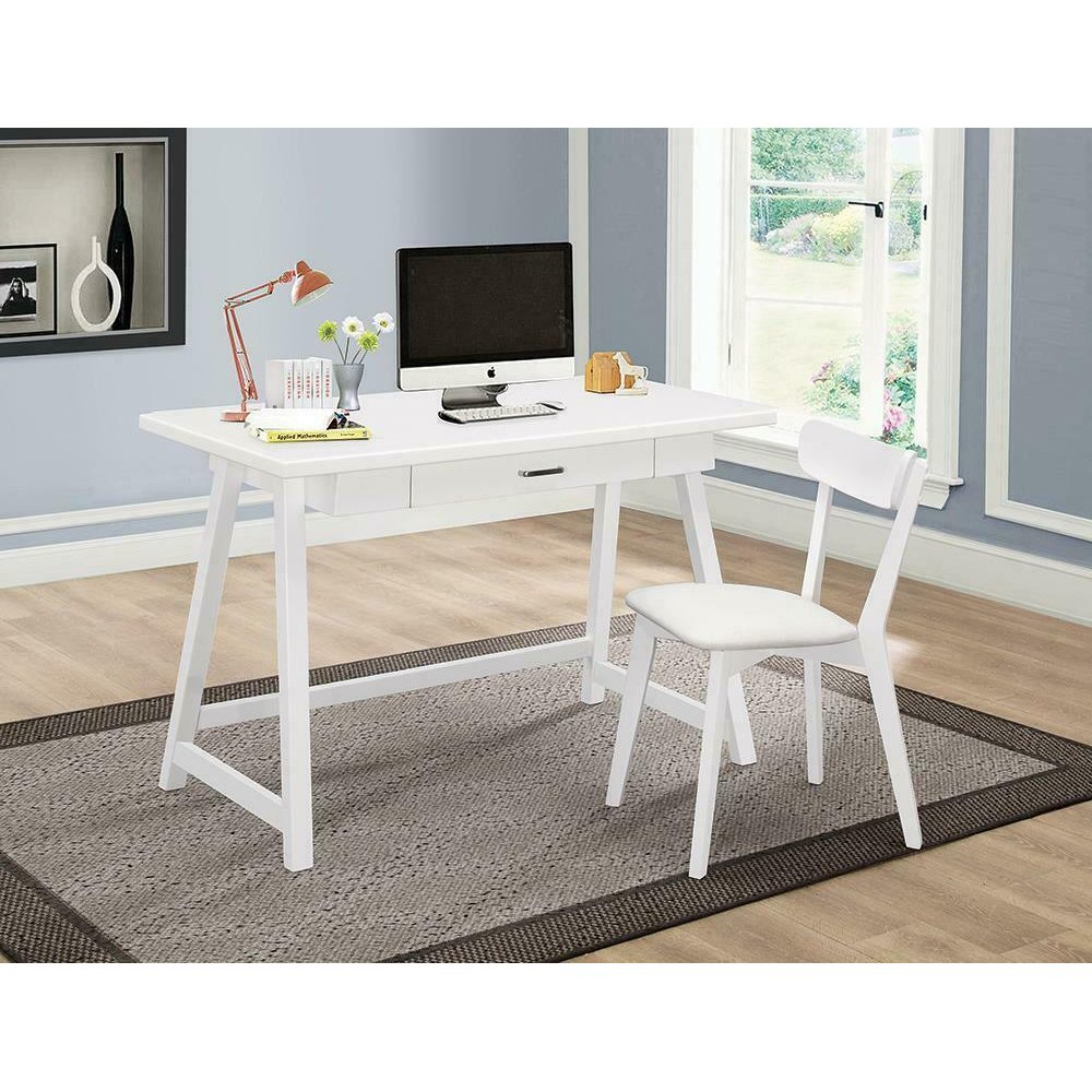 Casual Walnut Desk and Chair Set