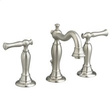 Quentin 2-Handle 8 Inch Widespread Bathroom Faucet - Brushed Nickel