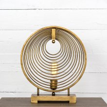 Antiqued Brass Finish Rowan Table Lamp