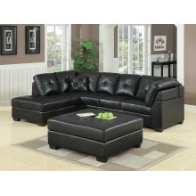 Darie Contemporary Black Sectional