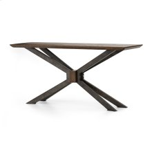 English Brown Finish Spider Console Table