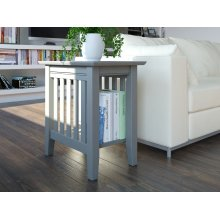Mission Chair Side Table Atlantic Grey