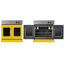 Residential Wall Oven, French Door Wall Oven , Yellow Color