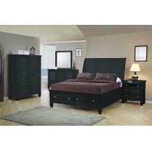 Sandy Beach Black Queen Four-piece Bedroom Set