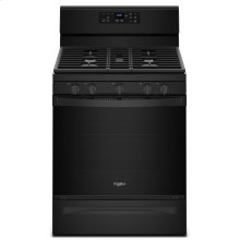 5.0 cu. ft. Freestanding Gas Range with Center Oval Burner Black