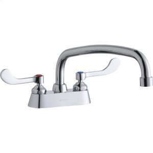 """Elkay 4"""" Centerset with Exposed Deck Faucet with 12"""" Arc Tube Spout 4"""" Wristblade Handles Product Image"""