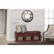 Tuscan Retreat® Bench With 3 Drawers - Antique Red Product Image