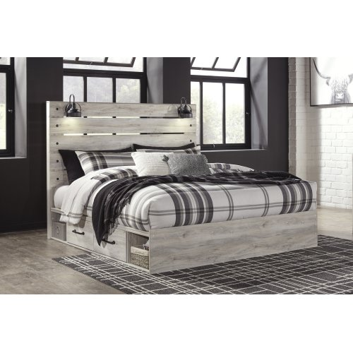 Cambeck - Whitewash 5 Piece Bed Set (King)