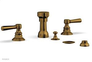 HENRI Four Hole Bidet Set - Lever Handles 161-61 - French Brass Product Image