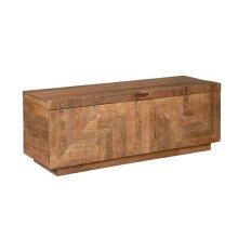 Rustic Natural Storage Bench