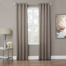 Aspen 50x84 Grommet Top PanelWeighted Corners Taupe