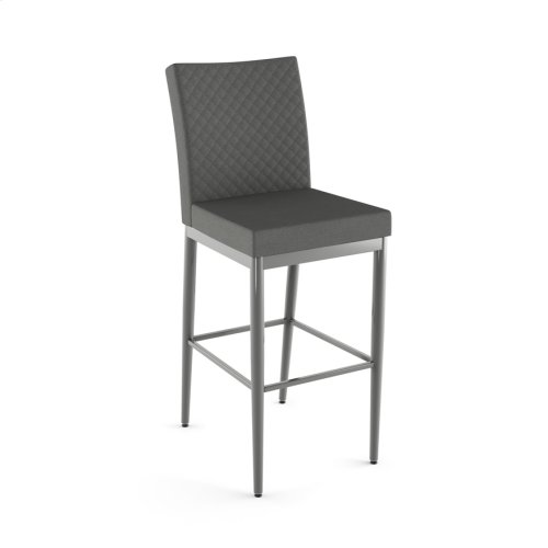 Melrose Non Swivel Stool With Quilted Fabric