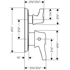 Chrome Thermostatic Trim with Volume Control, Round