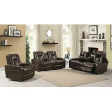 Delangelo Brown Power Motion Three-piece Living Room Set