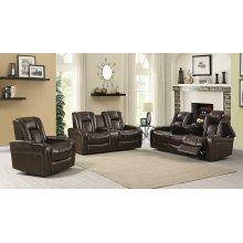 Delangelo Brown Power Motion Three-piece Living Room Set