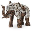 Wood Crafted Elephant W/aluminum, Small Product Image