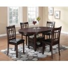 Lavon Transitional Warm Brown Dining Table Product Image