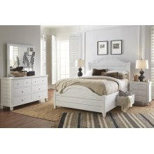 Chesapeake Queen Storage Bed - Coastal White