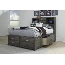Caitbrook - Gray 3 Piece Bed Set (Queen)