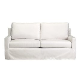 Slip Covered Sofa - Ivory Finish