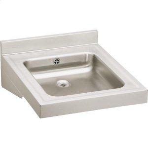 "Elkay Sturdibilt Stainless Steel 19"" x 23"" x 4"", Wall Hung Single Bowl Lavatory Sink Product Image"