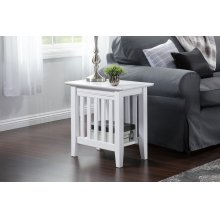 Mission Chair Side Table White