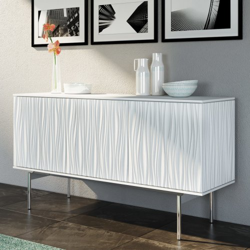 7107 Triple Credenza in Fog Grey